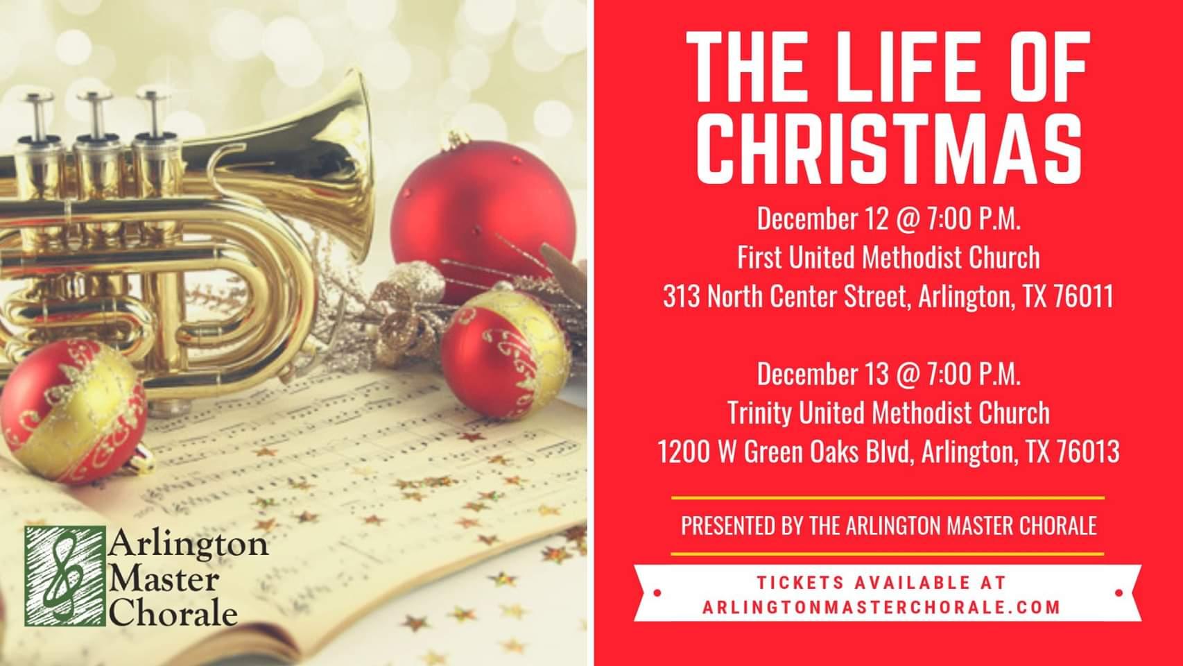 Trinity Methodist Church Arlington Tx Christmas Eve 2020 Arlington Master Chorale Presents a Winter Concert: The Life of